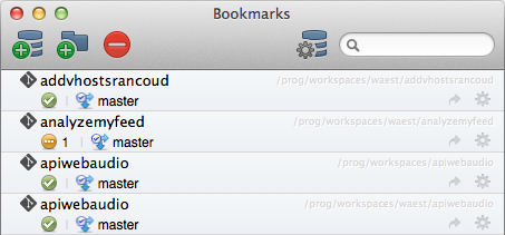 SourceTree - Bookmarks